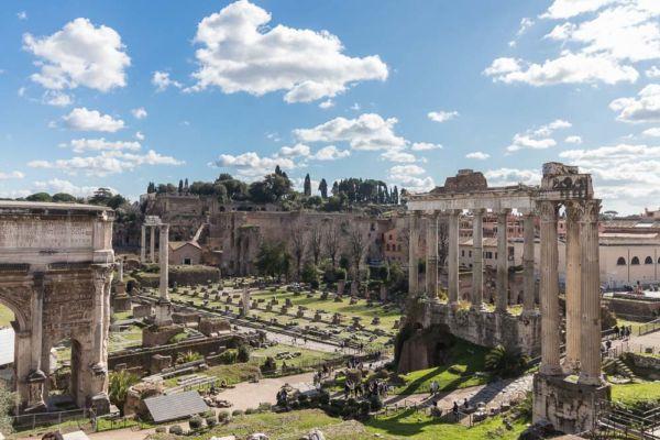 Forum Romanum und Palatin